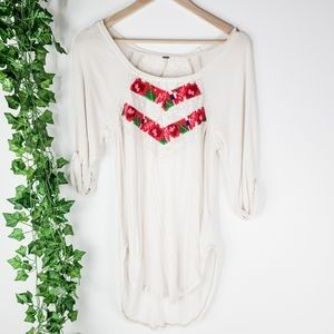 Free People Embroidered Lace Tunic Small